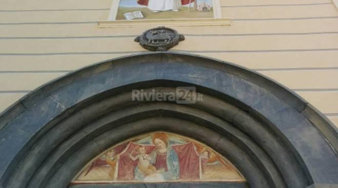 Pornassio, restaurata la lunetta della Chiesa Parrocchiale
