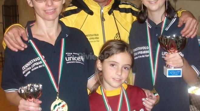 A.S.D. TennisTavolo Regina Sanremo inaspettata leadership in campo nazionale cadetta