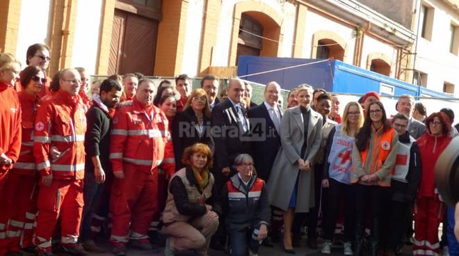 Principe Monaco in visita a Ventimiglia, febb 2016