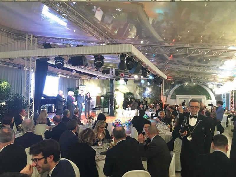Sanremo, cena di gala al Roof Garden del Casinò