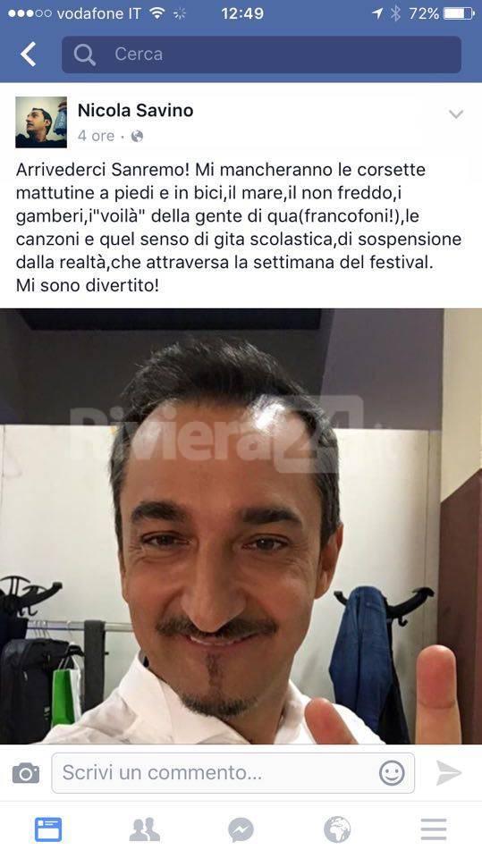 """""""Tutti amano Sanremo"""", anche Nicola Savino"""