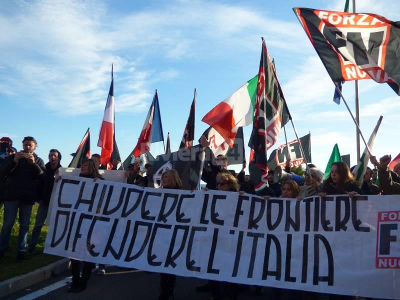 Ventimiglia, manifestazione Forza Nuova