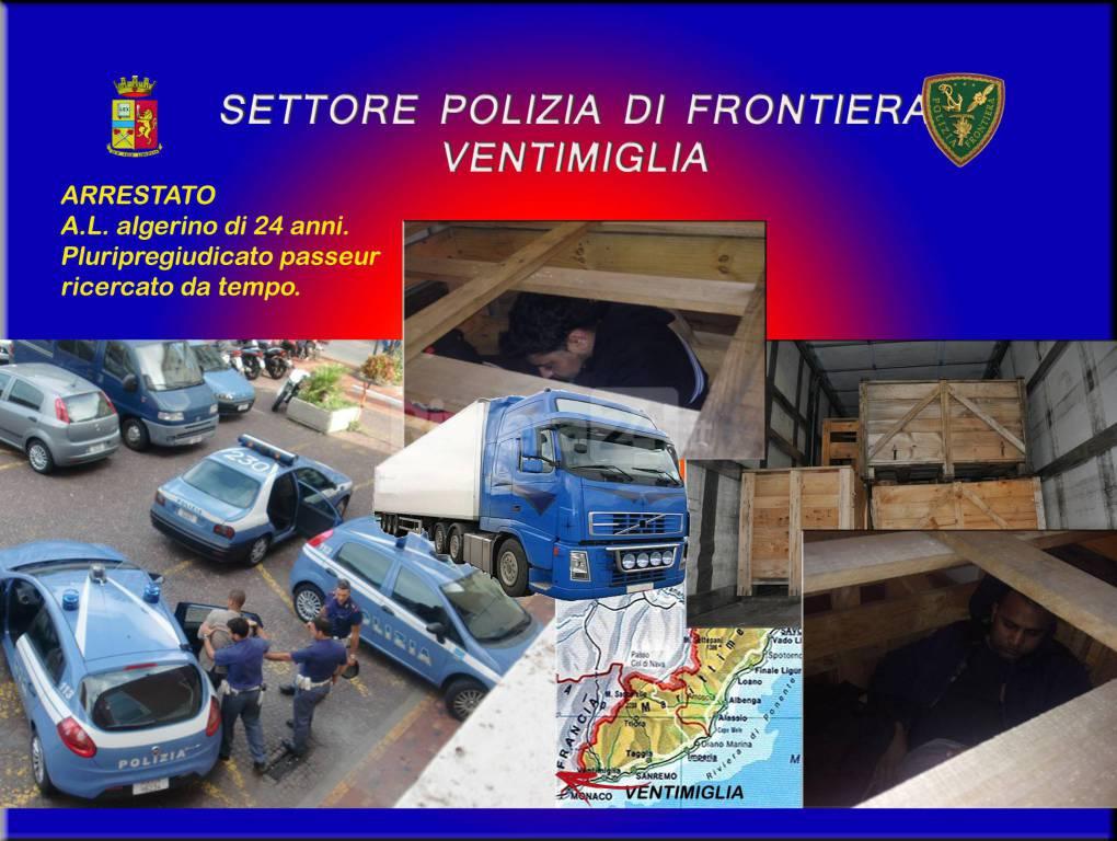 arresto passeur polizia di frontiera ventimiglia