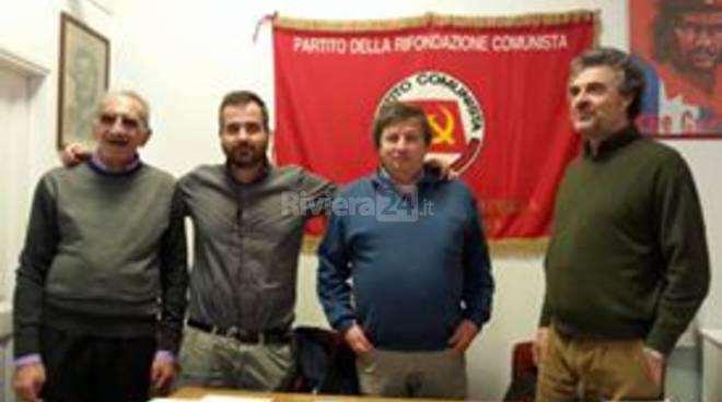 Ezio Locatelli a Sanremo per l'inaugurazione della sede rinfrescata di Rifondazione