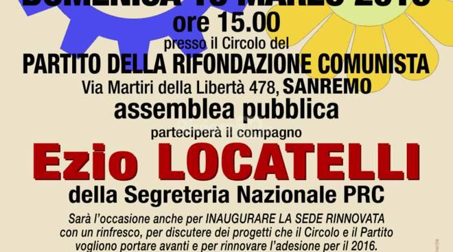 """Ezio Locatelli partecipa all'assemblea pubblica """"Il lavoro e l'ambiente nella costituzione italiana"""""""