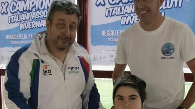 Giorgia Amodeo campionessa Italiana Nuoto FINP partecipa ai Campionati Italiani Assoluti Invernali