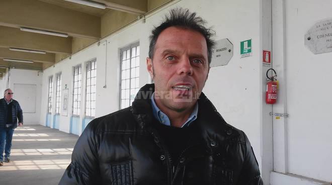 Loris Capirossi allo stadio Comunale di Sanremo