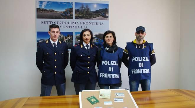 polizia di frontiera auto rubata