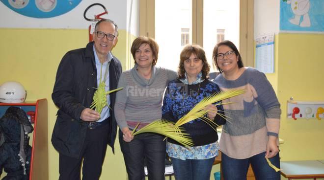 """Sanremo, il sindaco Biancheri a lezione di """"palmureli"""""""