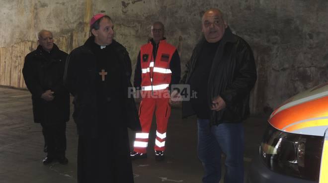 Visita del Vescovo alla Croce Verde Arma Taggia