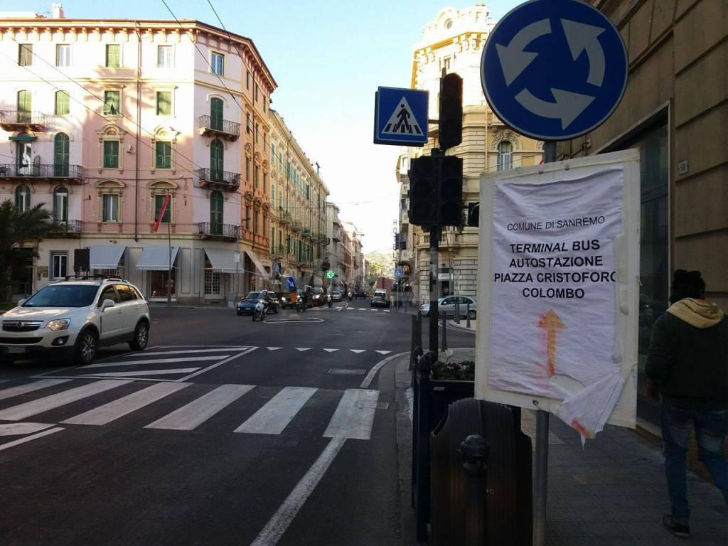 cartelli stradali centro sanremo