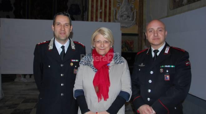 Lezione dei carabinieri a Bordighera