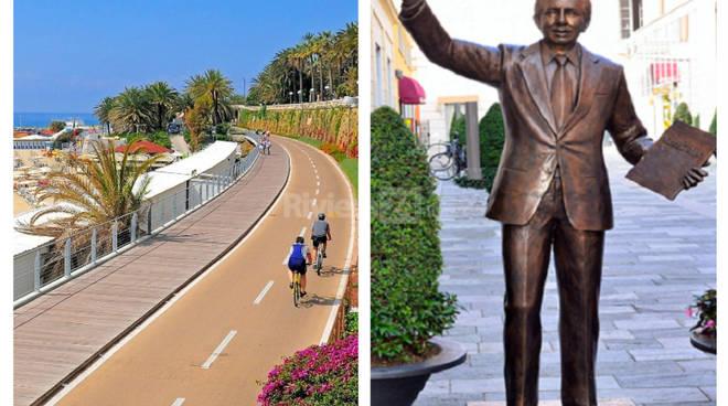 Riviera24 - Ciclabile e statua Mike Buongiorno