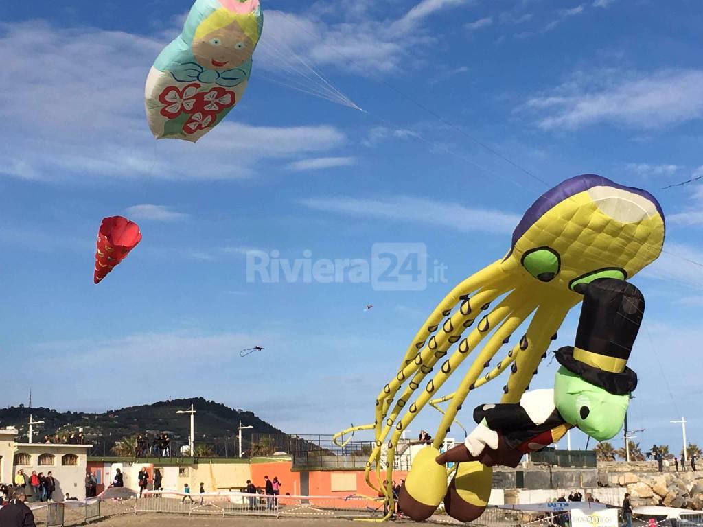 Vola l'aquilone di Milo Manara, show artistico per Sol & Vento di Imperia