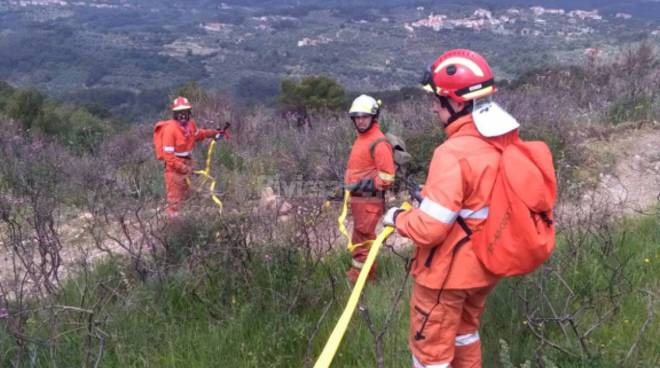 Cervo, esercitazione antincendio interegionale