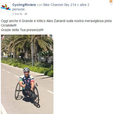 riviera 24 - alex zanardi in ciclabile