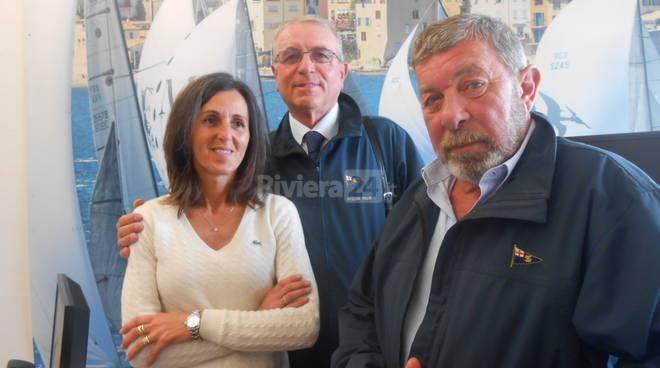 Riviera24 - Antonella Sambuco, Giovanni Manuguerra, Gianni Bojolo Yacht Club Sanremo Consoli del Mare