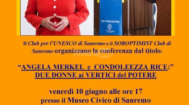 Riviera24 - Conferenza Angela Merkel e Condoleezza Rice