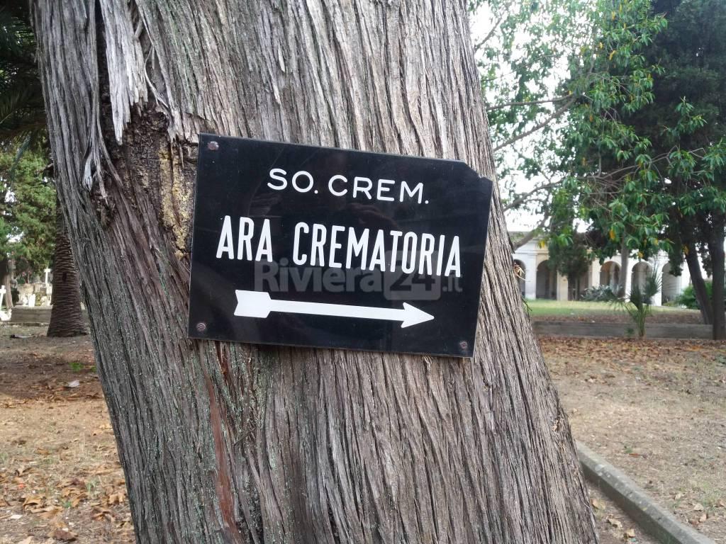 ara crematoria cimitero foce sanremo