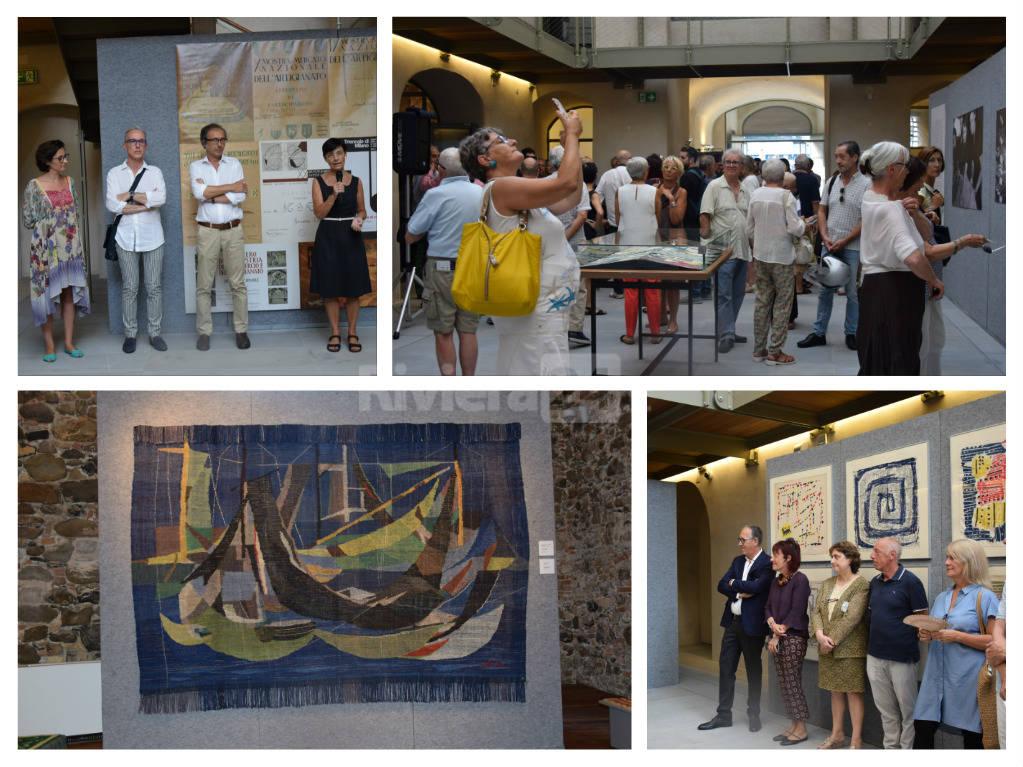 """Inaugurata """"Tessuti d'artista"""", la mostra con cui il Forte di Santa Tecla si apre per la prima volta alla città"""