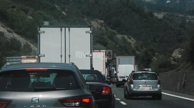Incidente autostrada Ospedaletti