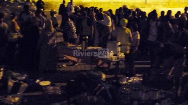 Migranti al parco Roja