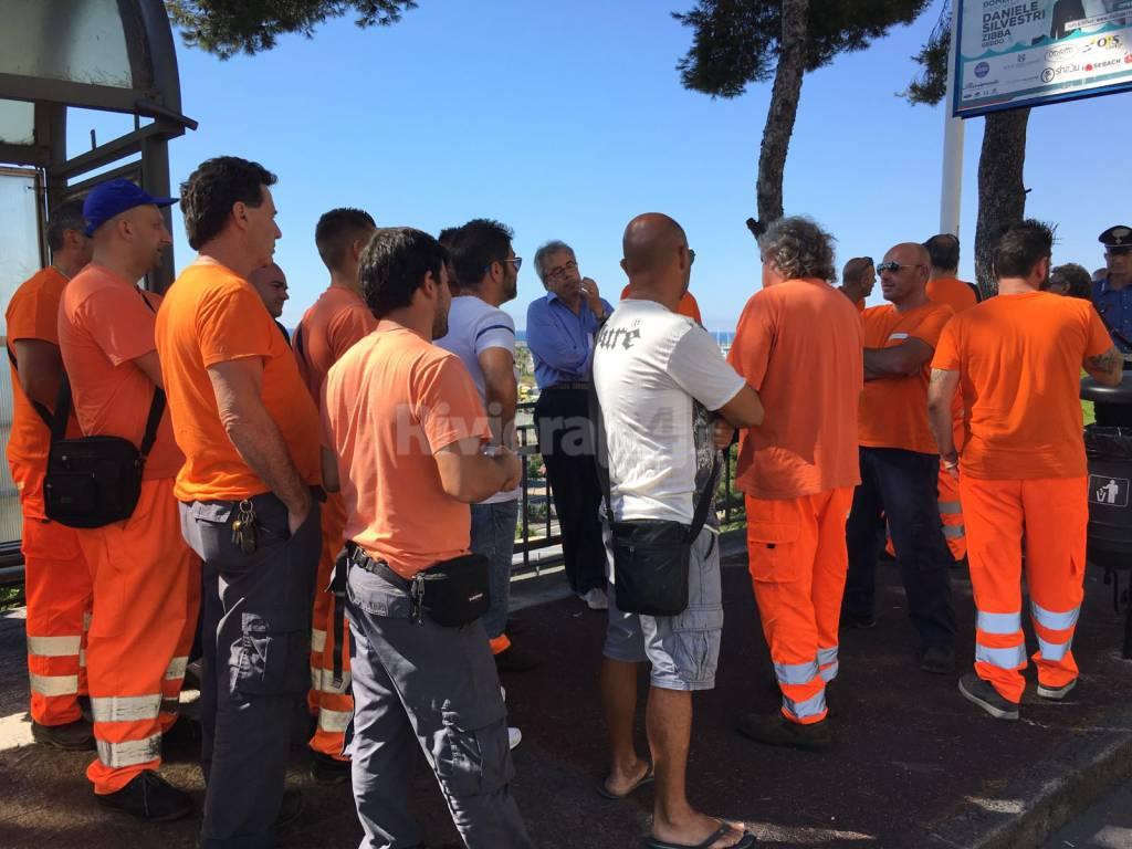 protesta lavoratori teknoservice