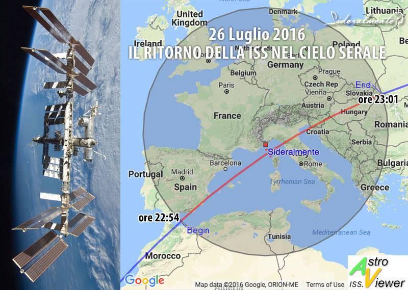 riviera 24 - stazione spaziale internazionale 26 luglio 2016