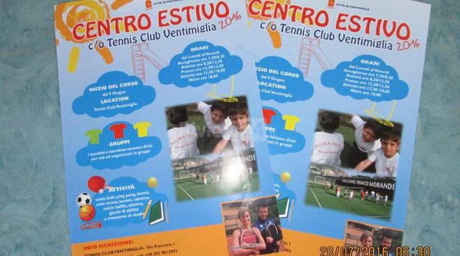 riviera24 - attività di animazione nel Centro Estivo al Tennis Club Ventimiglia