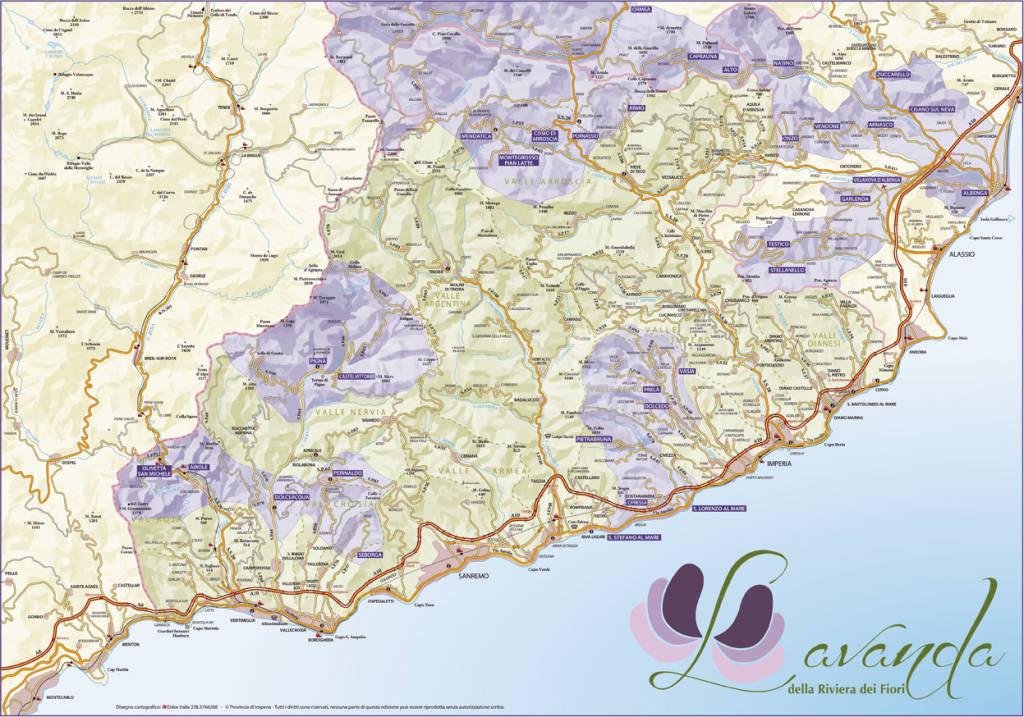 riviera24 - Lavanda dei fiori cartina