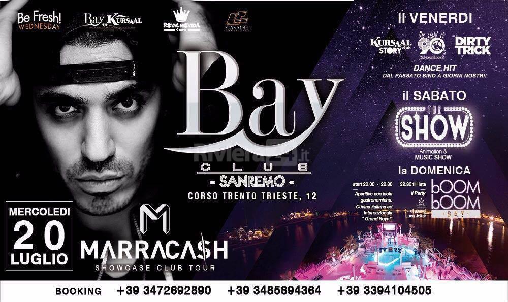 Riviera24 – Marracash al Bay Club