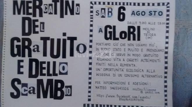 riviera24 -  Mercatino del gratuito e scambio a Glori