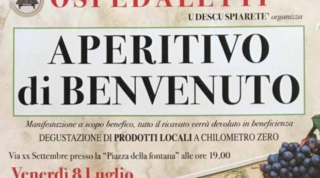"Riviera24 - Ospedaletti, ""Aperitivo di Benvenuto"" di U Descu Spiarete'"