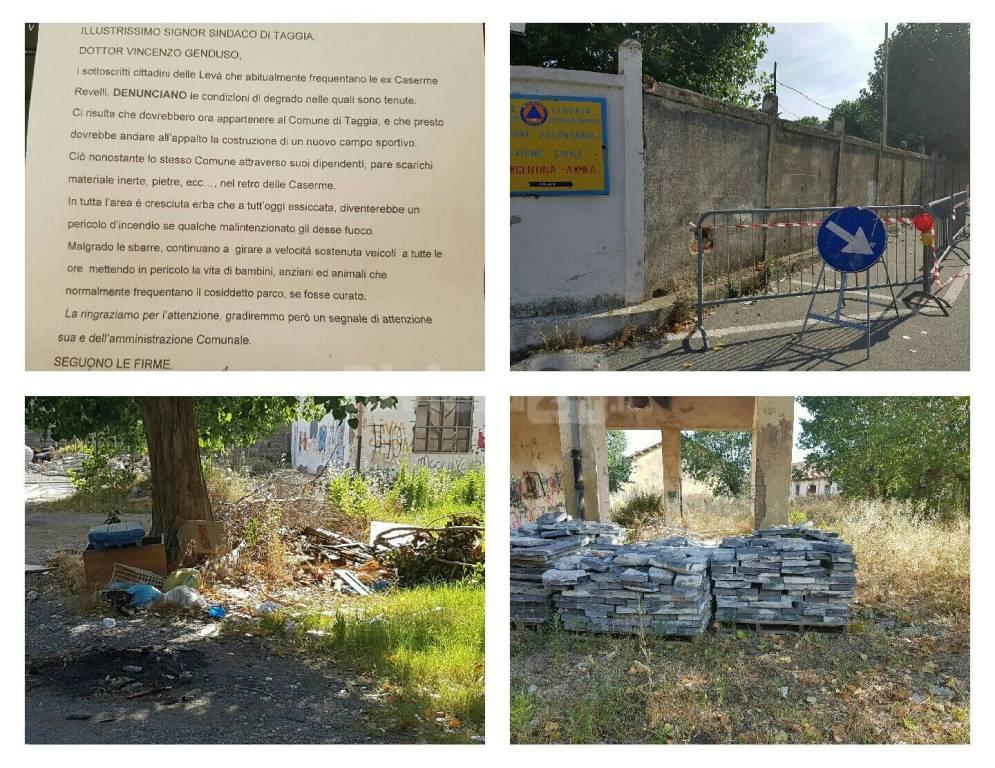 riviera24 - raccolta firme cittadini contro degrado caserme