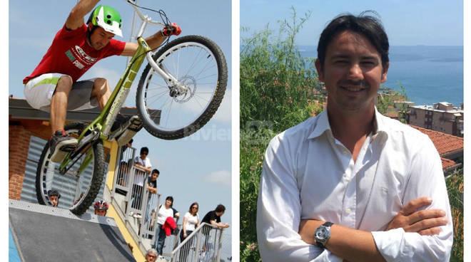 riviera24 - Riva Ligure, numeri di freestyle con la bici di Diego Donadomibus