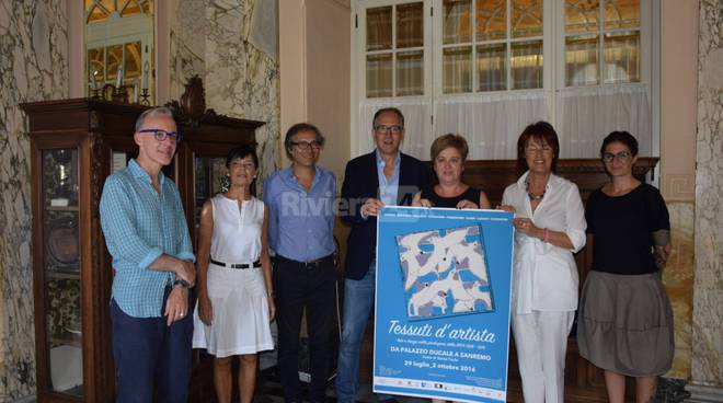 """Riviera24 - Sanremo, presentazione mostra """"Tessuti d'artista"""""""