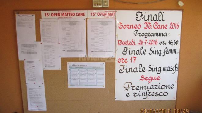 "riviera24 - Torneo ""Open"" Memorial Matteo Cane"