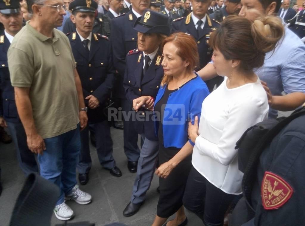 Albenga, una folla commossa per l'ultimo saluto a Diego Turra