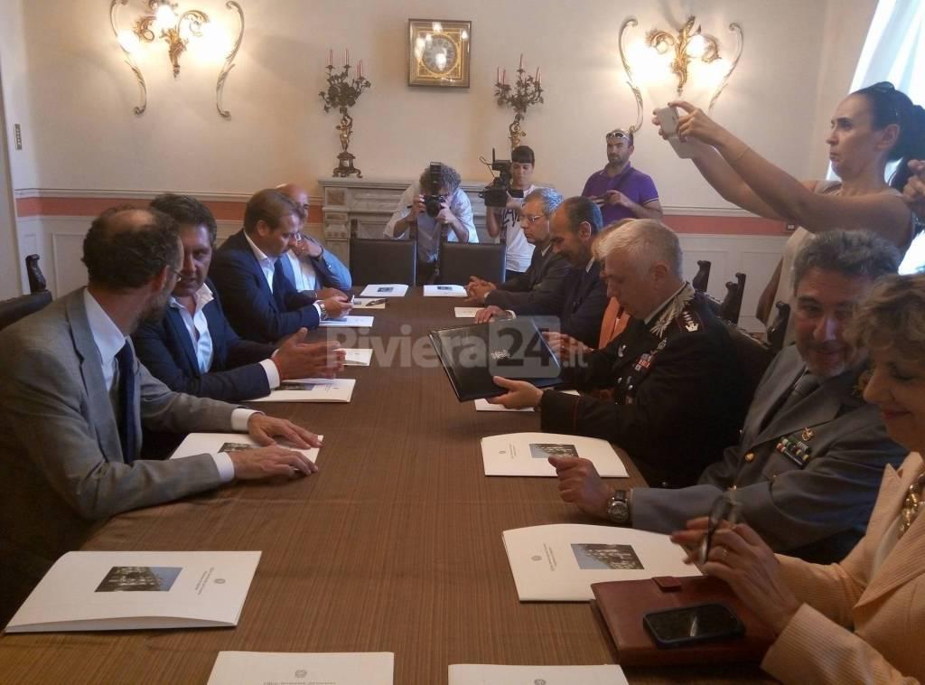 Il Presidente Toti e l'incontro in Prefettura a Imperia