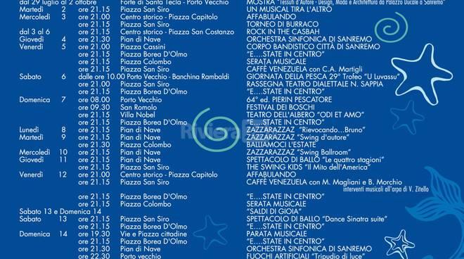 riviera24 - Appuntamenti estivi nella città di Sanremo