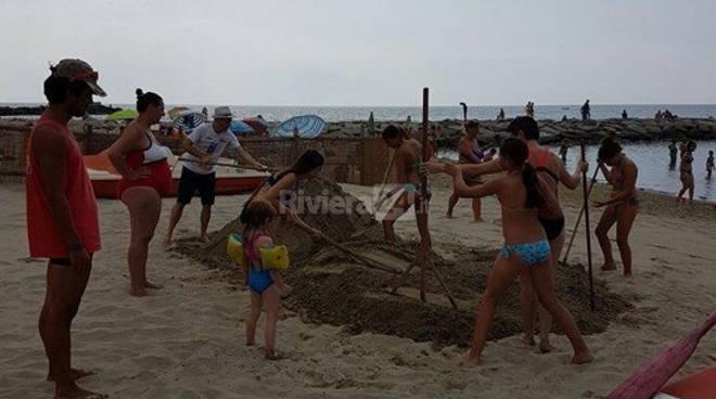 riviera24 - gara castelli di sabbia luglio 2016 arma di taggia