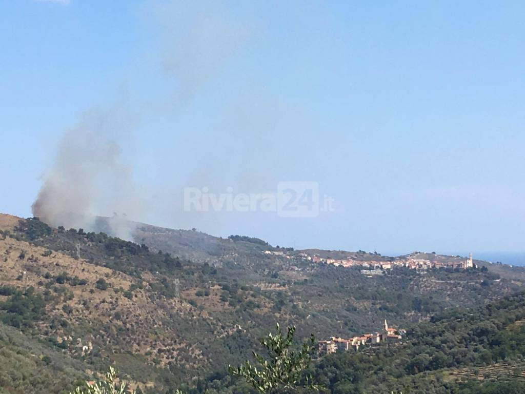riviera24 - incendio boschivo civezza