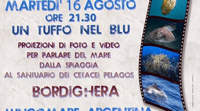 """riviera24 - """"Un tuffo nel blu"""" a Bordighera"""