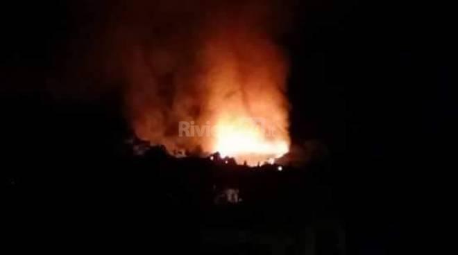 Sanremo incendio Coldirodi