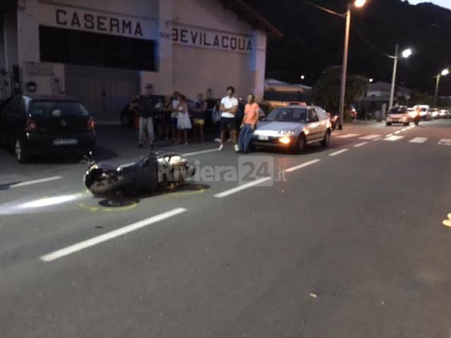 Incidente stradale Vallecrosia