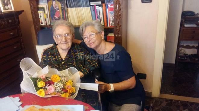 """riviera24 - Centenaria la signora """"Ninetta"""""""