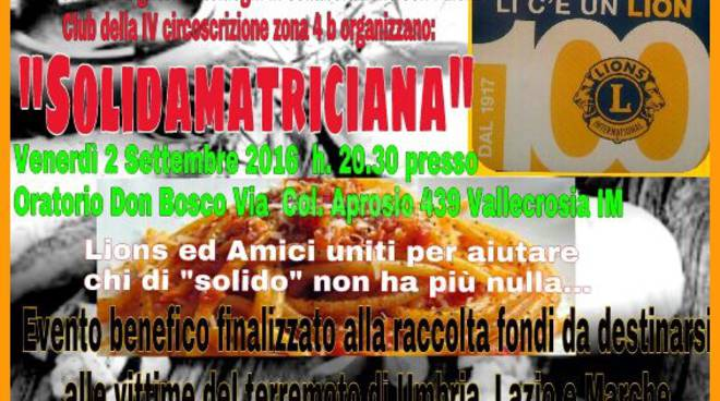 "riviera24 - ""SolidAmatriciana"""