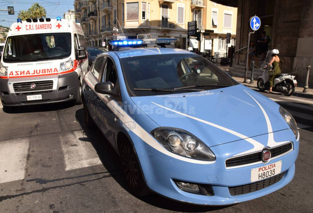 sanremo 118 soccorsi centro incidente via roma