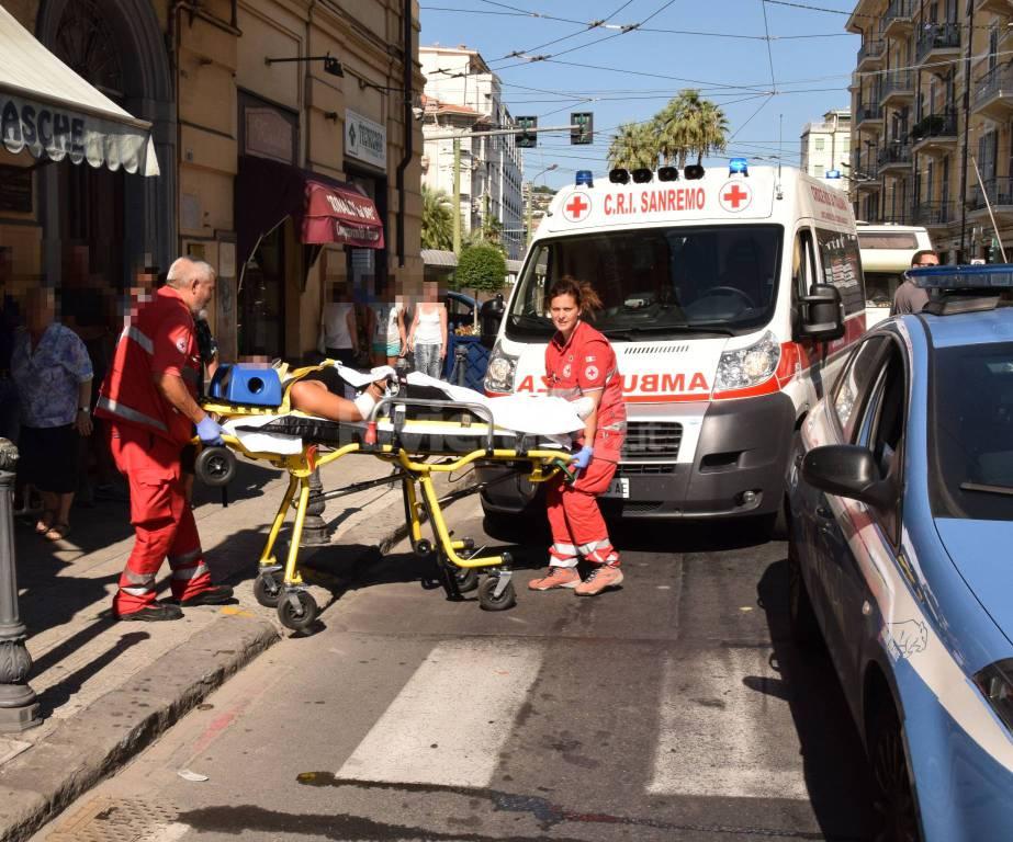 sanremo 118 soccorsi centro incidente via roma