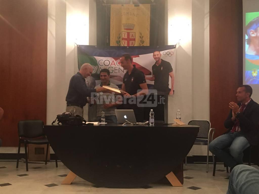 Taggia festeggia il suo coach d'argento, premiato dall'amministrazione Matteo Varnier